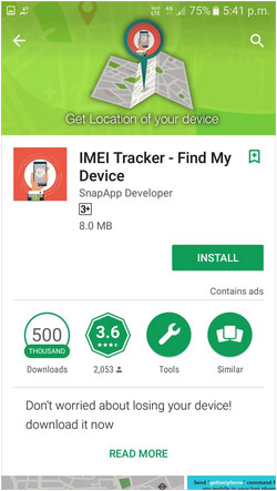 track the phone using IMEI