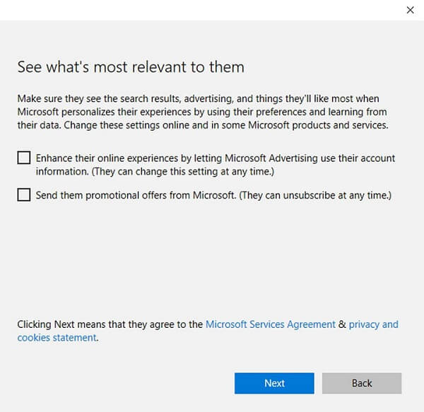 customize their online experience for Windows 10 parental controls