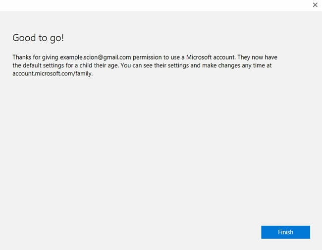 controle parental do Windows 10