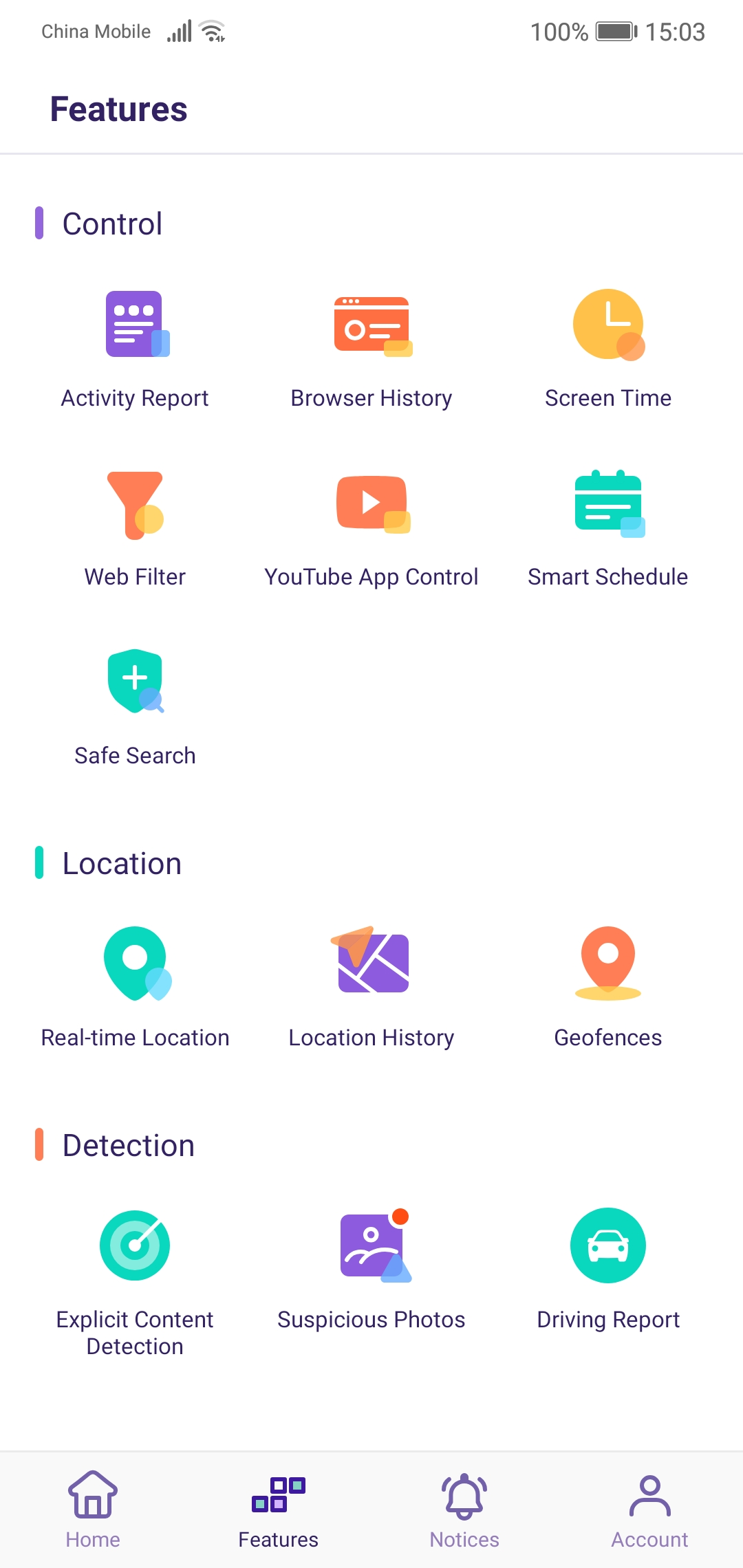 Famisafe - Android Features