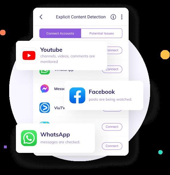 monitor message on social platform with famisafe