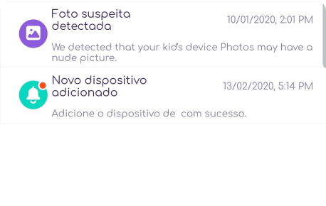 receber alertas para fotos suspeitas