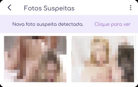 veja fotos suspeitas no celular