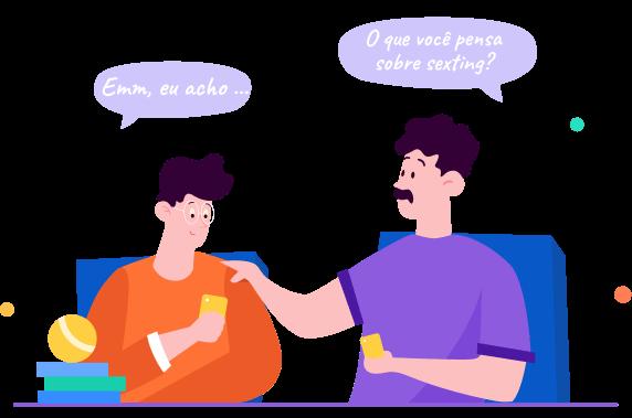 Fale com adolescentes sobre Sexting