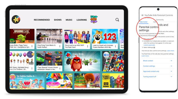 how to set up parental controls on YouTube Kids