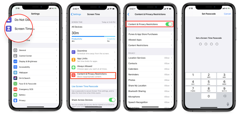 how to put parental controls on YouTube with ios setting