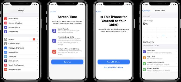 Conferir o relatório de atividades do iPhone