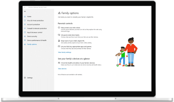 Controles parentales de Windows 10