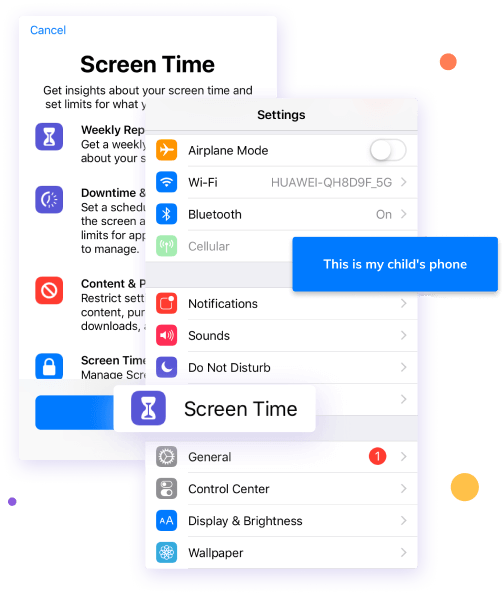 set screen time on iphone