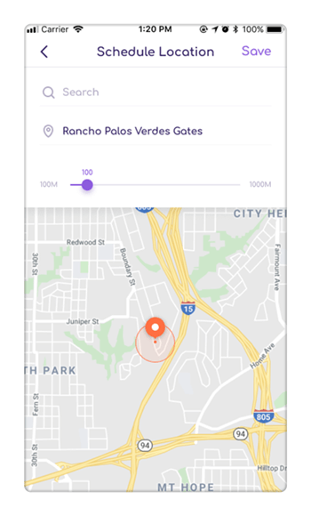 Geofence feature - track location history