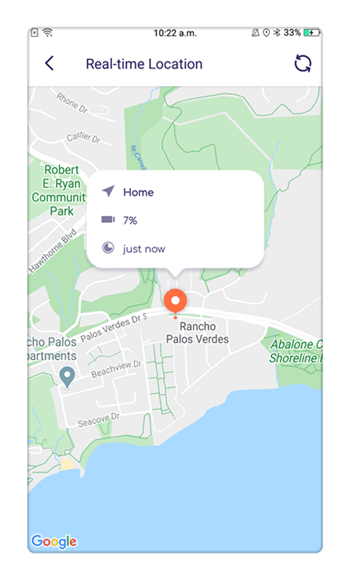 track the live location of the target device