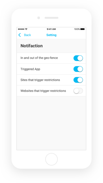 Famisafe Smart Settings for Flexible Control