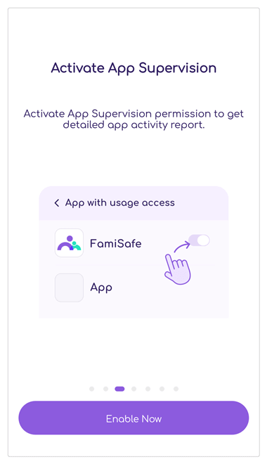 Activate App Supervision on Kid's Android