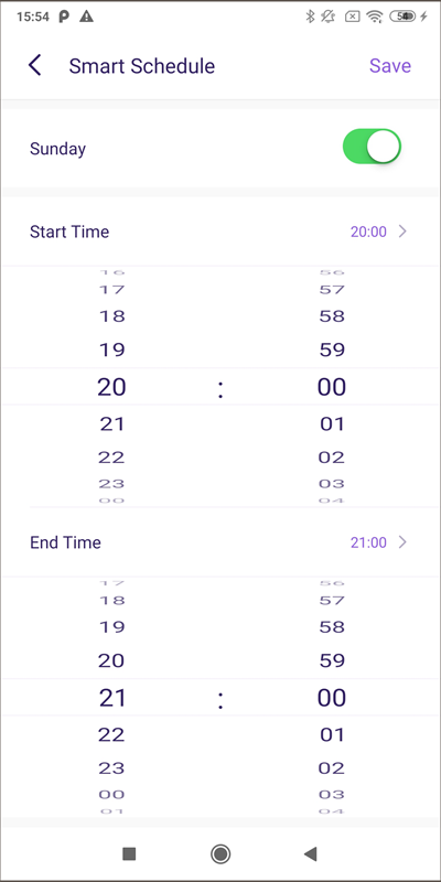 famisfe45 screen time - set up smart schedule