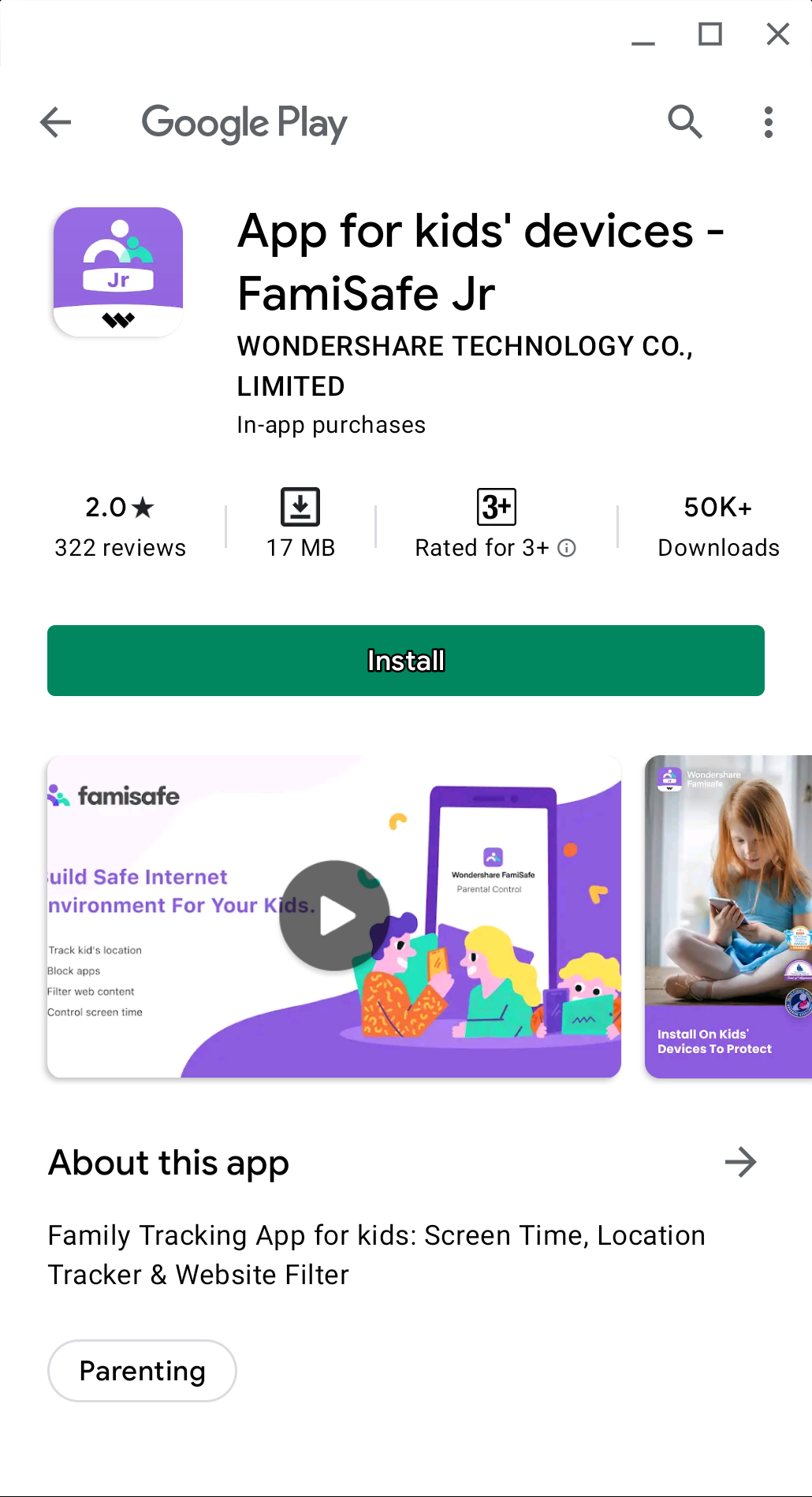 install famisafe jr app